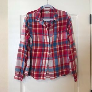 Madewell Broadway and Broome plaid buttondown
